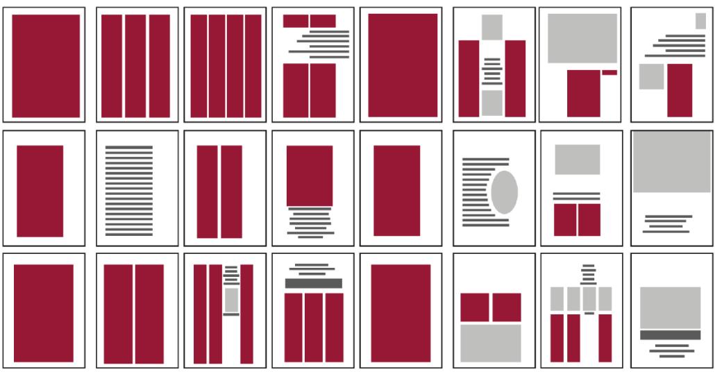 Corporate Design, Typografie, Satzspiegel