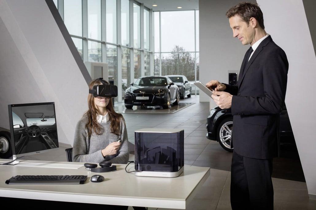 Markenkompetenz Audi: Innovation wird bei Audi auch in der Distribution erlebbar. Ein Beispiel: Virtuelle Verkaufsräume