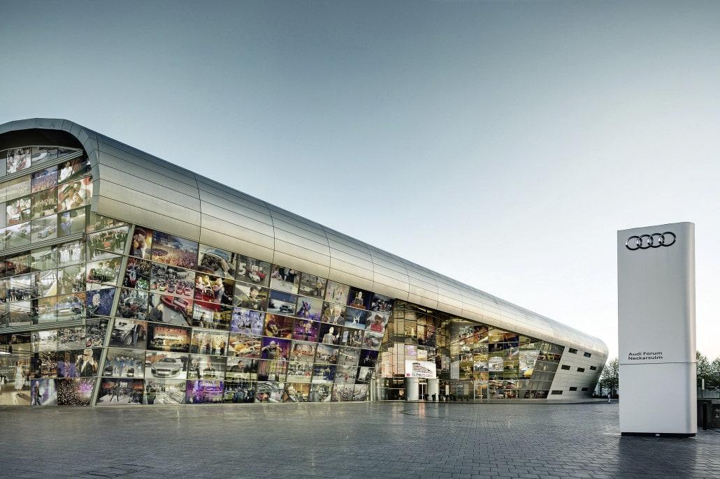 Auch die Corporate Architecture der Audi AG steht für Innovation. Quelle: www.audi-mediacenter.com