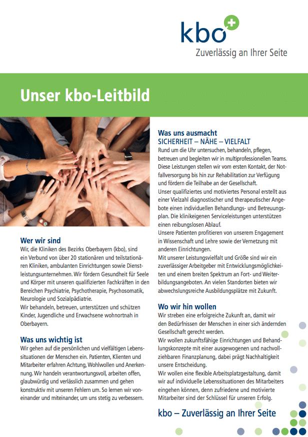 Leitbild der Kliniken des Bezirks Oberbayern