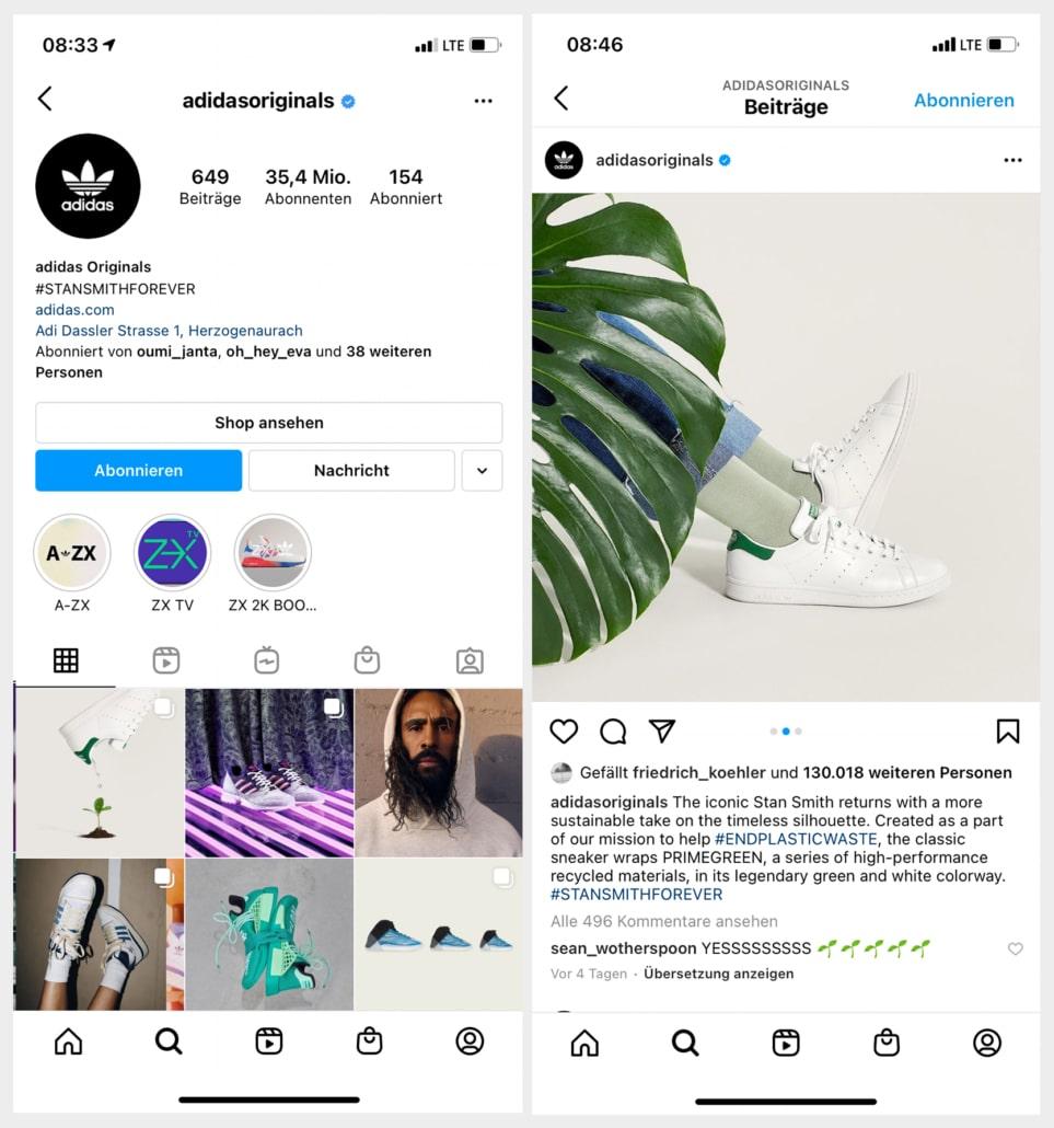 Instagram Adidas Originals