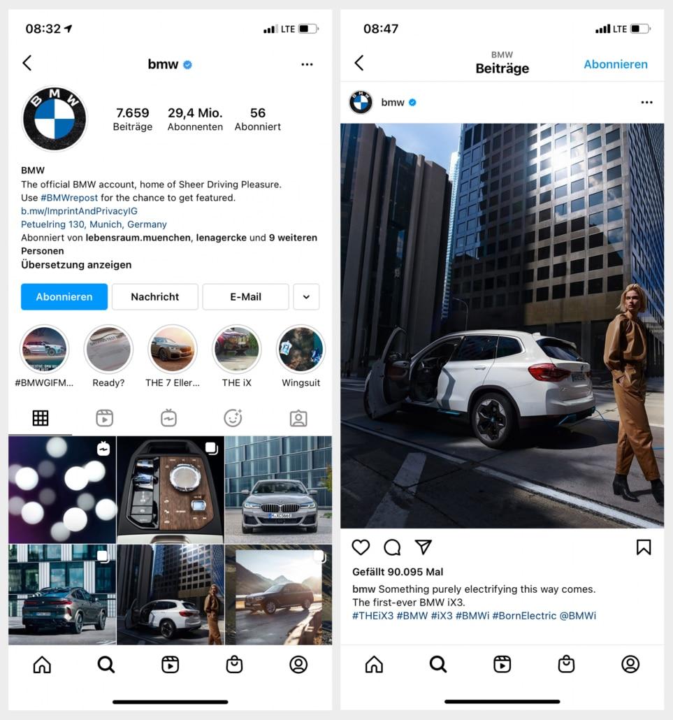 Instagram BMW