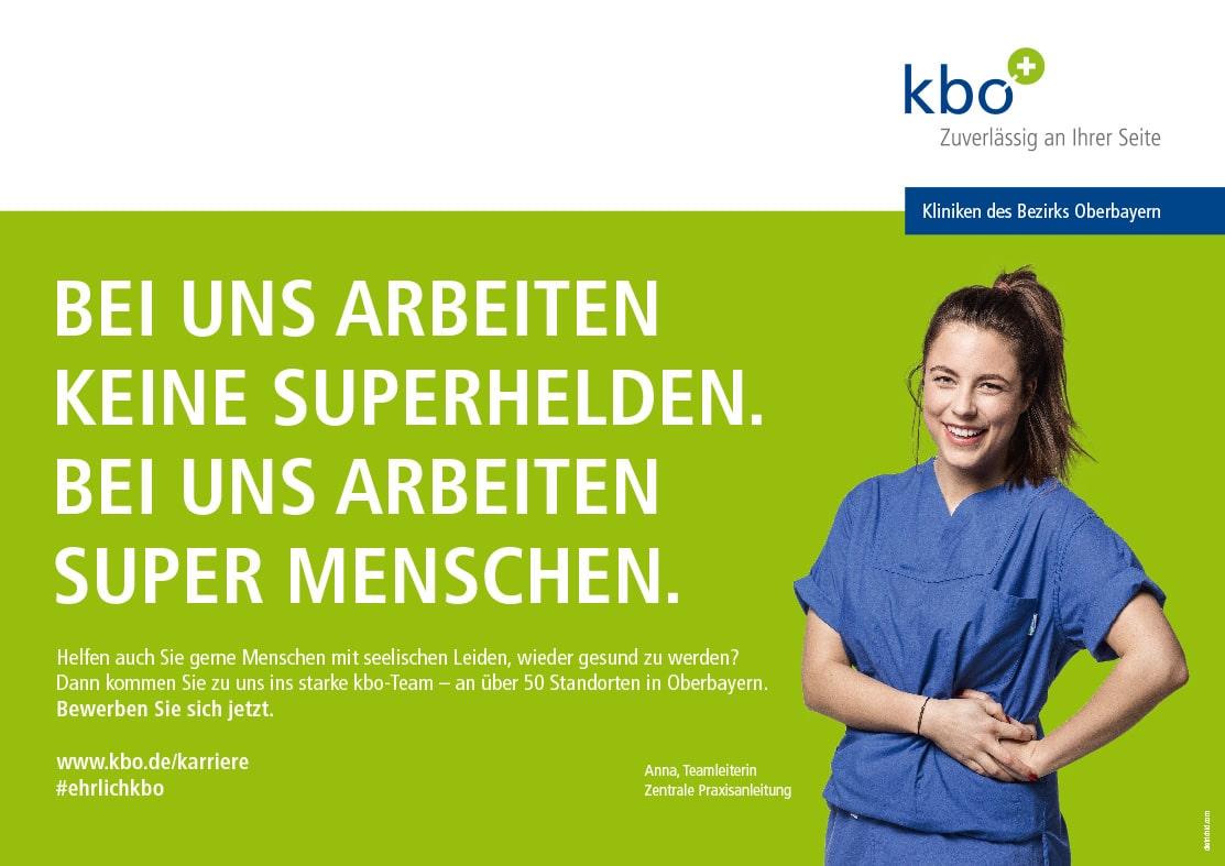 Plakat Employer Branding Pflegerin